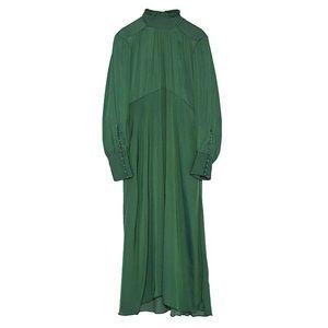 Zara green long sleeve dress
